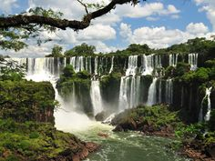 On the Argentina-Brazil border, Iguazú Falls in the subtropical north consists of 200 falls reaching heights of 200 feet, making it one of the most stunning sites in the world, both visually and acoustically (those waters are loud).