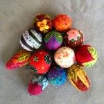 felted ornaments by Judy Coates Perez--This is the artist who developed the 500 recipes for RIT Dye