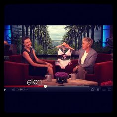 Oh, u know?just hanging out w/ Ellen DeGeneres + @MirandaKerr on the @TheEllenShow. #VSTeenyBikini