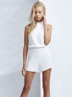 Finders Keepers Great Heights Playsuit – Cloud