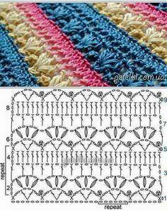 Mantas crochet con patrones, hermosas ideas para tus proyectos en ganchillo