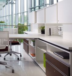 Haworth Beside Storage features a light-scale, residential aesthetic that responds to the blending of the work office and home office. Office Furniture, Office Decor, Home Office, Office Ideas, Personal Storage, Workspace Inspiration, Office Walls, Wall Storage, Black Decor