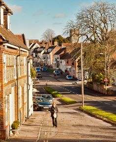 Pound Hill in Alresford, Hampshire_ England