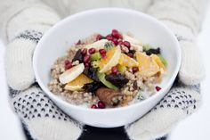 Winter Buckwheat porridge... seeing as winter just won's seem to leave, I might have to make this... yum!