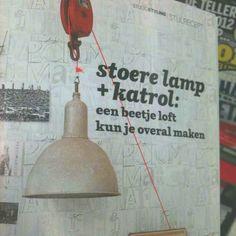 Katrol  aan een Lamp - pinned by Idea Concept Design.nl