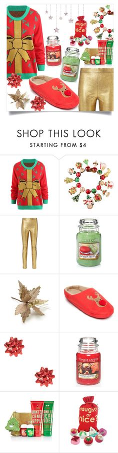 """Last Minute Gifts"" by freeunderwater ❤ liked on Polyvore featuring Carlo Zini, Intermix, Yankee Candle, New Directions, Bomb Cosmetics, contest, Sweater and gamiss"
