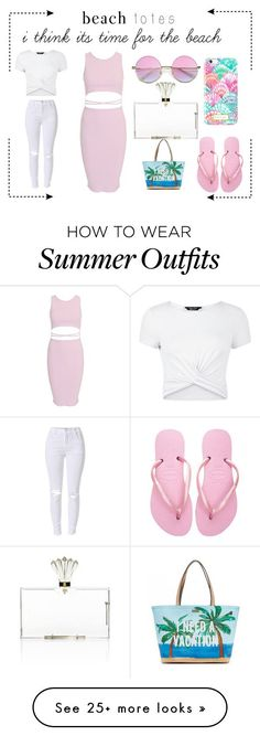Summer Outfits : pink summer outfit by finasara on Polyvore featuring Kate Spade Havaianas Li