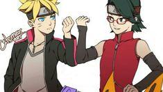 Boruto Uzumaki and Sarada Uchiha Boruto And Sarada, Itachi Uchiha, Hinata, Naruto Shippuden, Boruto Next Generation, Naruto Family, Naruto Series, Estilo Anime, Naruto Art