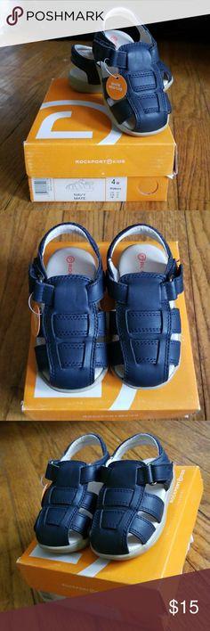 Rockport sandals Super cute navy blue sandals. Brand new. Size 4W. Rockport Shoes Baby & Walker