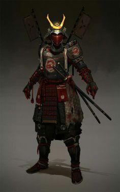 "sekigan: ""ArtStation - Samurai , Evgeniy Petlya "" black and white sketch samurai ninja Geisha Samurai, Ronin Samurai, Samurai Warrior, Samurai Anime, Woman Warrior, Samurai Concept, Armor Concept, Concept Art, Game Concept"