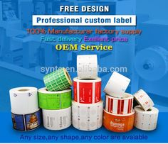 Custom label roll logo customized stickers PVC PET paper Vinyl printing  lable