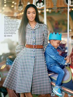 comegently:   US VOGUE AUGUST 2013 JOURDAN & HER SON, RILEY!!