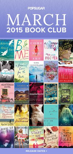 March is the month that bridges Winter and Spring, so mix up the long month with magic, romance, mystery, and more. Water For Elephants author Sara Grue returns with a period piece set in the World War II era, and Fifty Shades of Grey fans won't be disappointed with some of our sexier selections for the month. Crack open our picks for the best new reads, and enjoy!