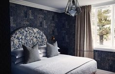 """Designer Anna Spiro on getting the Halcyon House look and the importance of customisation: What are your top three tips for successfully combining multiple different prints and patterns in the one space? """"I like to incorporate a mix of pattern scales and pattern designs. I also always include a few plains in the mix to ground the scheme. Select one multi-coloured patterned fabric as the hero/trophy fabric for your room and work the scheme back around that fabric. However, often I like to… Halcyon House, Anna Spiro, Interior And Exterior, Interior Design, Upstairs Bedroom, Vogue Living, New South, Home Reno, Dream Bedroom"""