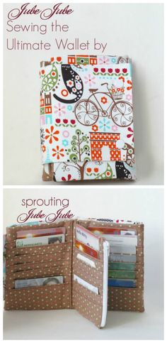 Great wallet sewing pattern! The Ultimate Wallet pattern has everything you'll ever need. Love it!