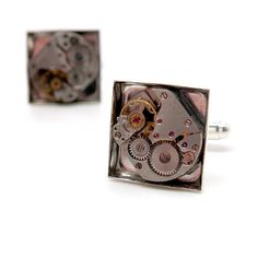 Watchworks Cufflinks by Louise Pringle