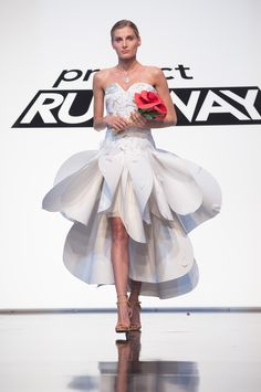 Project Runway Unconventional Materials Challenge winning dress by Edmond Newton…