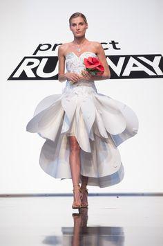 Project Runway Unconventional Materials Challenge winning dress by Edmond Newton…