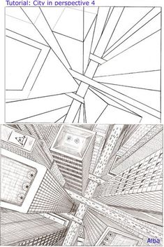 Arbeitsblatt Zeichnen Perspektive Zentralperspektive: Schluchten in ...