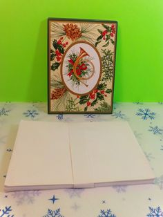 16 Paper Magic Group Christmas Cards With Envelopes Trumpet Holly Pine Cones   eBay