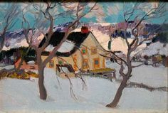Clarence A. Gagnon - House in Baie S. Paul, c. 1924