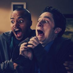 Donald Faison & Zach Braff (Turk & J.D. on Scrubs)