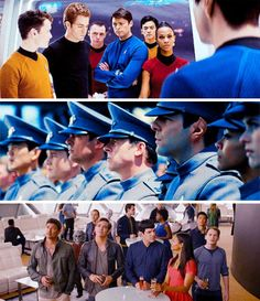 Star Trek, Star Trek Into Darkness & Star Trek Beyond   The crew of the Enterprise
