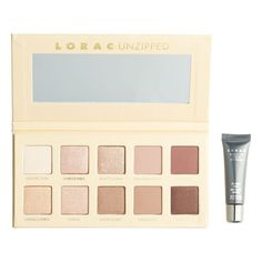 LORAC 'Unzipped' Shimmer & Matte Eyeshadow Palette ($40) ❤ liked on Polyvore featuring beauty products, makeup, eye makeup, eyeshadow, beauty, eyes, none, lorac eye shadow, lorac eyeshadow and palette eyeshadow