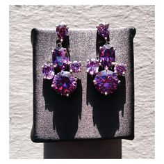 Pretty violet earrings arrived today