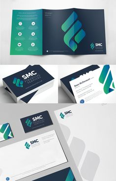 SDM Brochure, Business Card and Business Stationary Design for SMC Financial Services Corporate Stationary, Stationary Branding, Corporate Identity Design, Stationary Design, Brand Identity Design, Branding Design, Identity Branding, Branding Ideas, Personal Branding