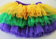 Mardi Gras Tiered Tutu - $4.99