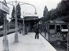1934 U-Bahnhof Thielplatz mit einem Zug zum Alexanderplatz Bahn Berlin, S Bahn, Public Transport, Transportation, Street View, Travel, Berlin Today, Railroad Photography, Train