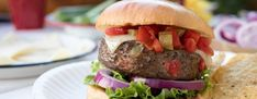 Try the best burger recipes! 35 of the best juicy burger recipes that you will love. Find the best grilled burger recipe from beef, poultry and meatless! There is a burger for everyone! Best Grilled Burgers, Grilled Burger Recipes, Best Juicy Burger Recipe, Ground Sirloin, Good Burger, The Best, Spicy, Beef, Stuffed Peppers