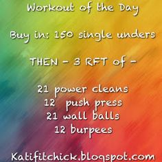 Katifitchick: Workout of the Day! Crossfit WOD! #chipper