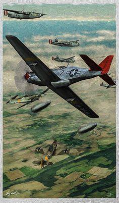 P-51 and B-24 Artwork