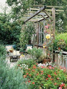 Relax in Privacy  A side yard can be a great place for a patio where you can relax with a good book or spend time with the kids. Or get double duty from it by entertaining guests. Install a fence or hedge if there's not already one there, then add a patio made from the material of your choice.  Test Garden Tip: For extra privacy, plant strategically to block the view from a neighbor's windows.