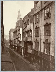 Old Houses In Wych Street, London, demolished in 1901 for the redevelopment that created the Kingsway and Aldwych