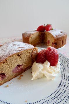 Gluten free strawberry cake with coconut buttercream