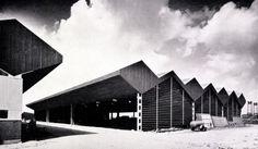 """Contracting company """"Welzenes"""" (ca. 1962) in Spijkenisse, the Netherlands, by Van den Broek & Bakema"""