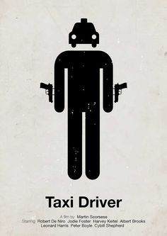 Taxi Driver - pictogram movie poster