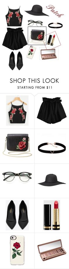 """Trend's of summer 2017 -PATCH"" by wendyfashion on Polyvore featuring Charlotte Russe, Astrid & Miyu, Yves Saint Laurent, Gucci, Casetify and Urban Decay"