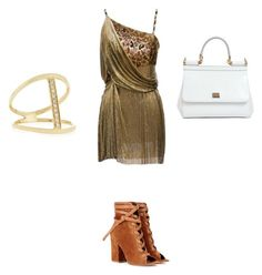 """rose primadonna"" by meanbarbie ❤ liked on Polyvore featuring Versace, Gianvito Rossi, Dolce&Gabbana and Sydney Evan"