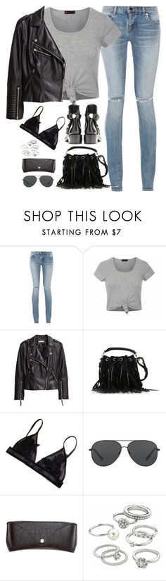 """""""Sem título #4902"""" by fashionnfacts ❤ liked on Polyvore featuring Yves Saint Laurent, Ally Fashion, H&M, Michael Kors and Candie's"""