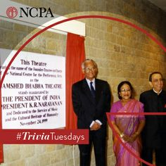 Did you know that the Jamshed Bhabha Theatre was inaugurated in 1999 by the then President of India President K.R. Narayanan? #TriviaTuesdays