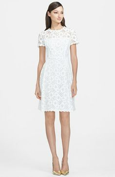 Like this but in a pretty pink. ESCADA Lace Dress available at Lace Party Dresses, Lace Dress, White Dress, Prom Dresses, Pretty In Pink Dress, Rehearsal Dinner Dresses, Nordstrom Dresses, Floral Lace, White Lace