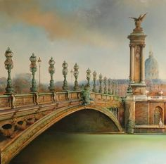 Marc Chapaud 1941 | French landscape painter | Tutt'Art@ French School, France, Paris, Ciel, Big Ben, Landscape, Art Paintings, Inspiration, Paint