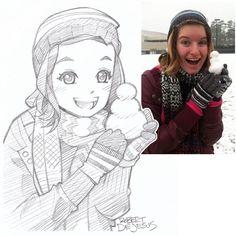 dibujos de persona y lindos en anime - Buscar con Google