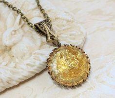 Topaz Necklace Pendant Gold Topaz by dfoxjewelrydesigns on Etsy