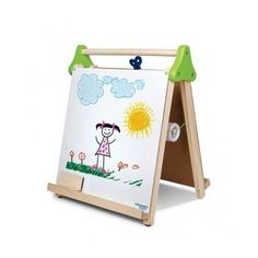 Drawing Easel Child Chalkboard Whiteboard Table Wood Art Supplies Artist Small