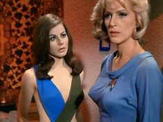 Star Trek (TOS) Sherry Jackson as Andrea (l) and Majel Barrett as Nurse Christine Chapel in What Are Little Girls Made Of (S1-E7) October 20, 1966 (google.image) 11.17 #1/2